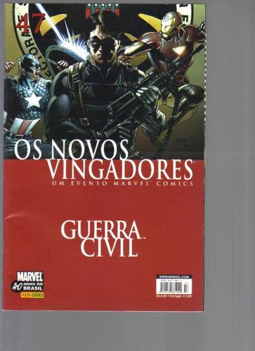 os novos vingadores nº 47 - guerra civil - marvel- panini