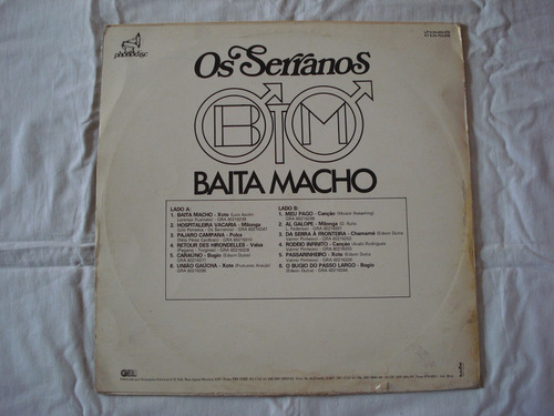 os serranos-lp-vinil-baita macho-mpb-sertanejo