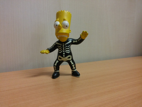 os simpsons bart as a glow in the dark skeleton burger king