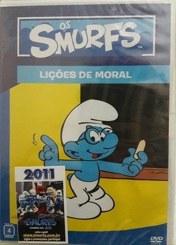 os smurfs - lições de moral - dvd - original lacrado