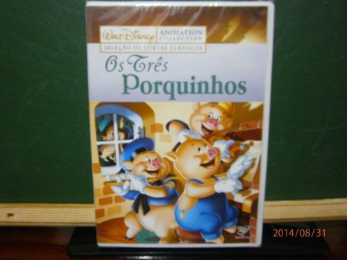 os três porquinhos dvd disney lacrado original