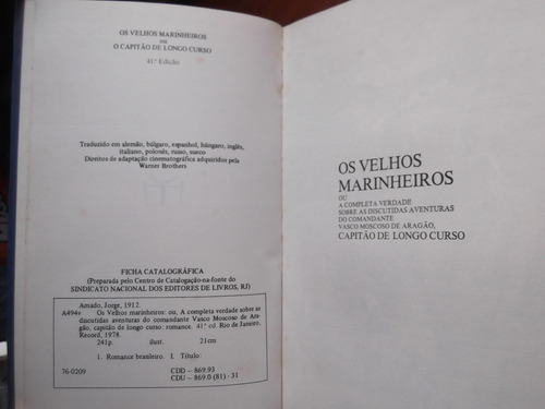 os velhos marinheiros jorge amado en portugues original