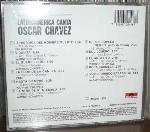 oscar chavez cd latinoamerica canta