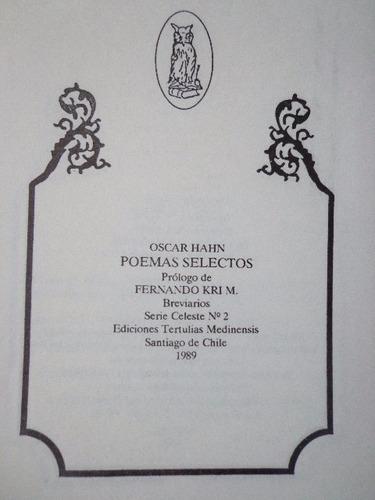 oscar hahn poemas selectos 1989