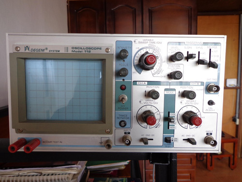 osciloscopio degem model 112
