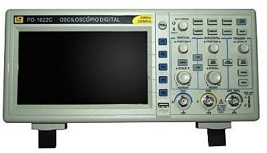 osciloscópio digital colorido 25mhz
