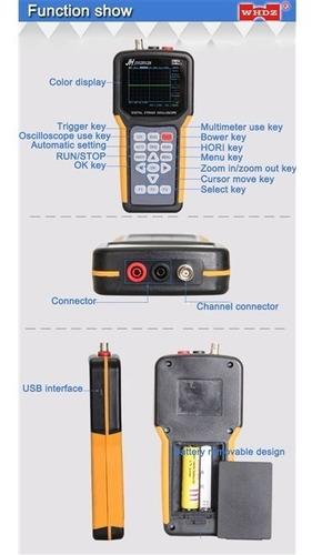 osciloscopio digital portatil multimetro miniscope sem fio