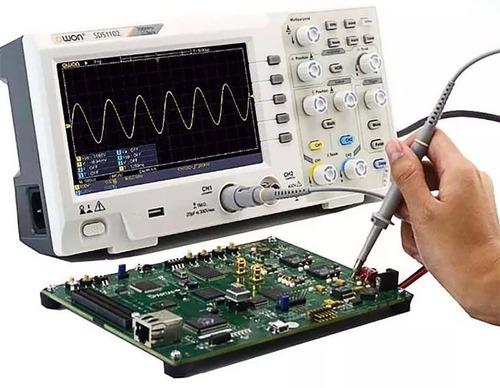 osciloscopio lcd 2 canais 100mhz digital 1gs/s - owon sds110