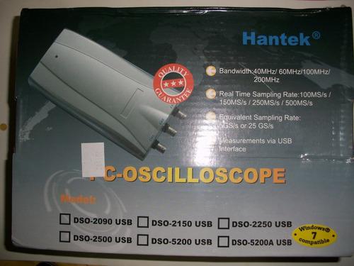 oscilóscopio usb digital hantek 20mhz dos canales