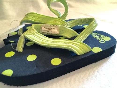 osh kosh ojotas zapatillas niños playa unisex 100% ori usa
