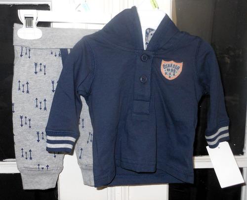 oshkosh bgosh bebe camisa short 0-3m novo original importado