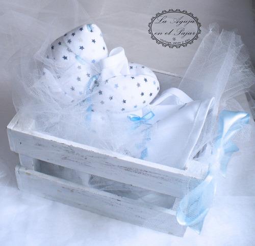 osito bebé hipoalergénico algodón con babero y cajoncito