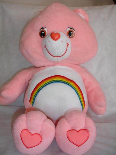 osito cariñosito rosado arcoiris 60 cms detalle ver foto 3