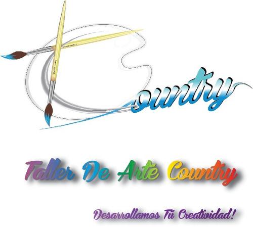 osito cepillero arte country