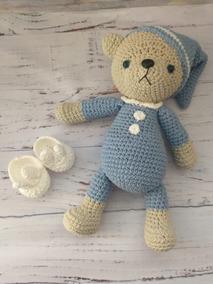 Amigurumi Boneco Croche Urso de Pijama | Elo7 | 284x213