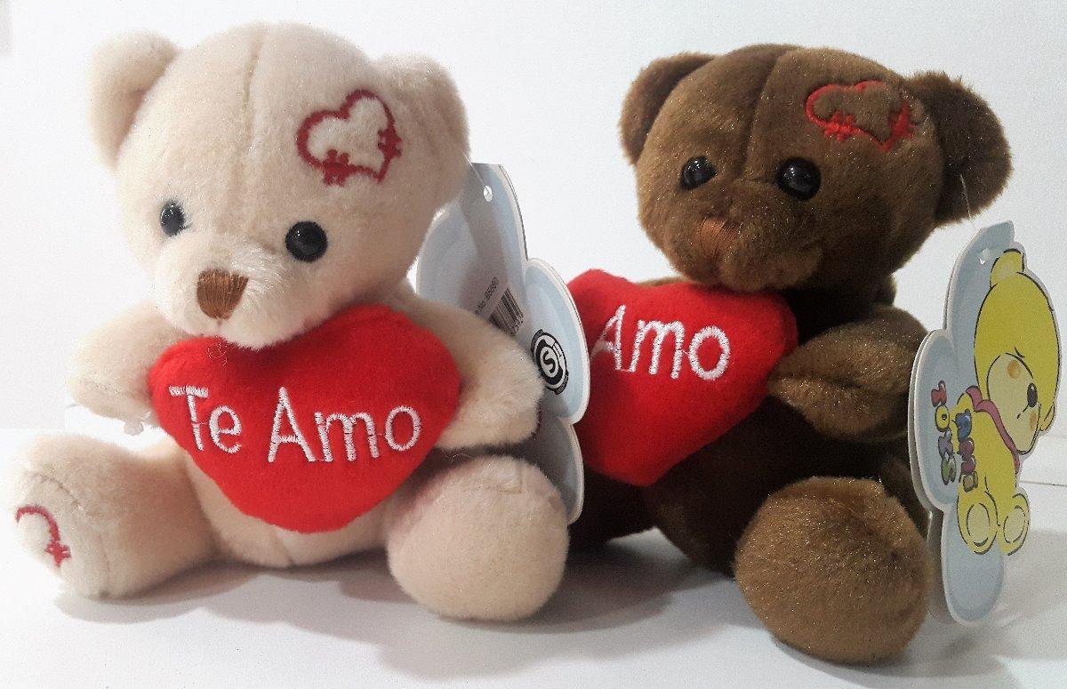 Osito De Peluche C/corazón Te Amo Bordado Día Enamorados - $ 120,00 ...