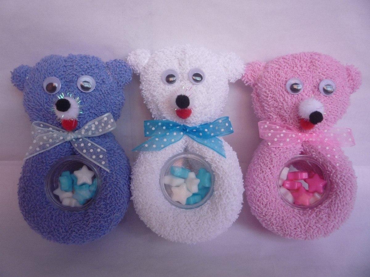 Ositos osos toalla facial recuerdo baby shower bautizo for Adornos con toallas