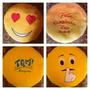 Caritas De Emoticones Del Pin Y Corazones En Tela Cobija