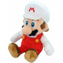 Peluche Mario Bros Fire Nintendo 20cm Original