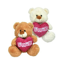 Peluche Mediano Oso Corazon Love 30cm Original