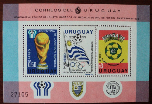 osl hojita 32 c sello uruguay futbol bandera