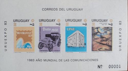 osl hojita 38a sello sin dentar uruguay comunicaciones 1983