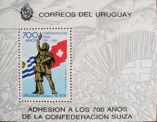 osl hojita 40 sello uruguay 700 años confederación suiza