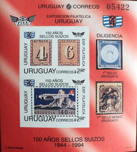 osl hojita 46a sin dentar sello uruguay sellos suizos