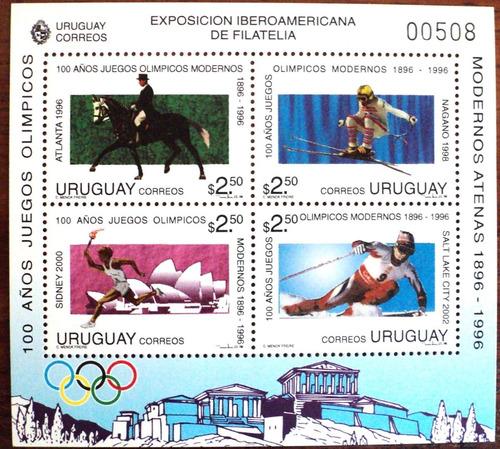 osl hojita 60 sello uruguay olimpicos 1996