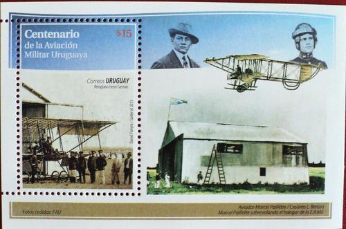 osl hojita 97 sello uruguay centenario aviación bandera