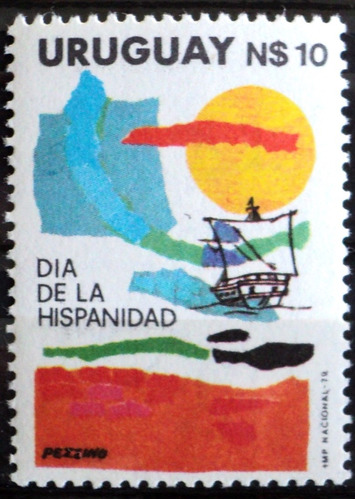 osl sello 1043 mint uruguay hispanidad