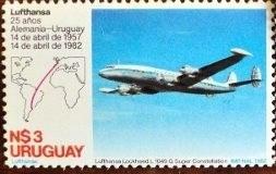 osl sello 1103 mint uruguay lufthansa aviación