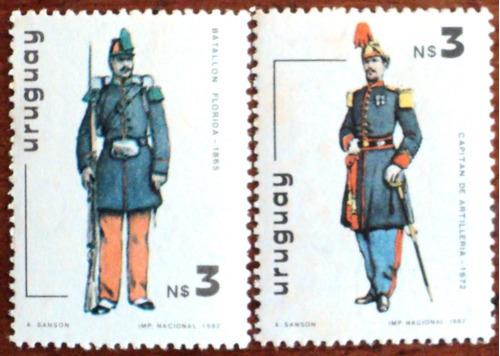 osl sello 1105/06 mint uruguay uniforme precio x todos