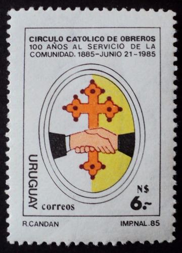 osl sello 1162 mint uruguay circulo católico