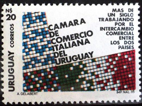 osl sello 1179 mint uruguay cámara italiana