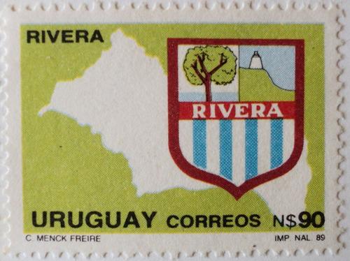 osl sello 1333  uruguay departamento de rivera