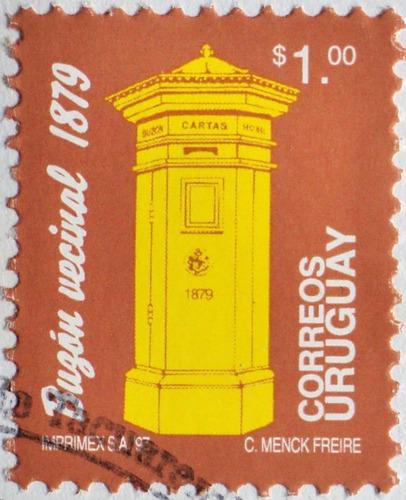 osl sello 1699 uruguay buzón