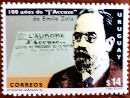 osl sello 1790 uruguay emilio zola yo acuso