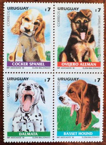 osl sello 1834 al 1837 uruguay perros