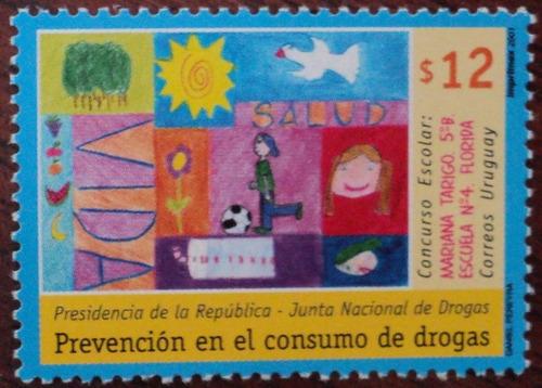 osl sello 1987 uruguay diseño dibujo