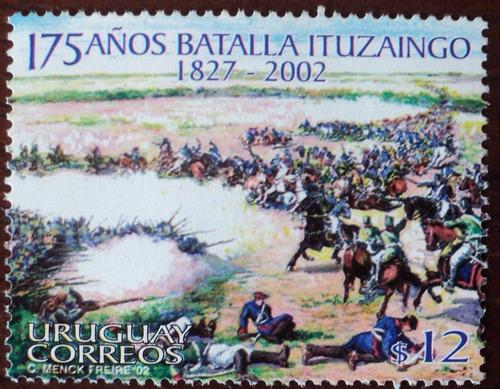 osl sello 2062  uruguay batalla caballos