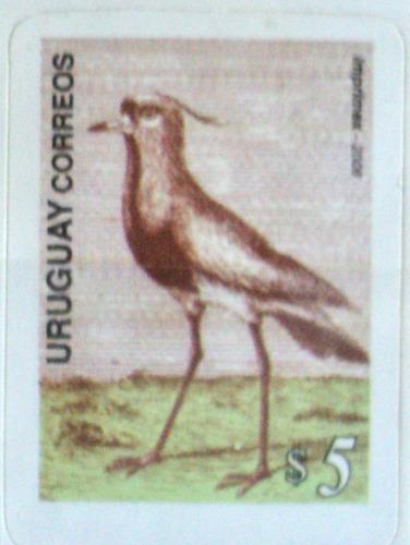 osl sello 2297 uruguay pájaro el tero fauna