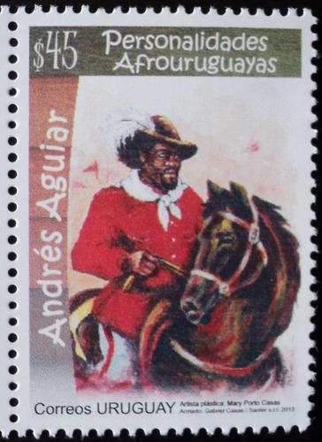 osl sello 2641 mint uruguay andres aguiar - caballo