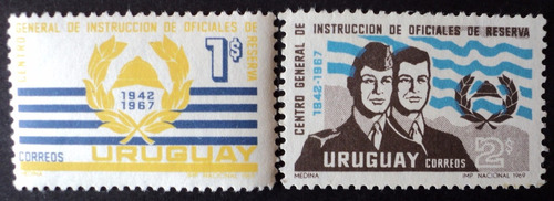 osl sello 782/3 mint uruguay oficiales reserva precio x todo