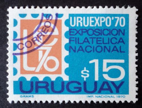 osl sello 794 mint uruguay expo filatelia