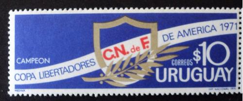 osl sello 818 mint uruguay nacional campeón 1971 fútbol