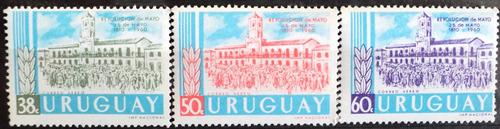 osl sello aéreo 207/9 mint uruguay rev. mayo precio x todos
