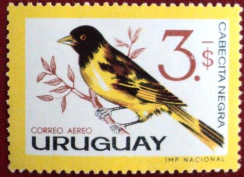 osl sello áereo 240 uruguay pajaro cabecita negra.