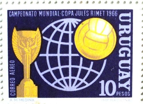 osl sello aéreo 283 mint uruguay copa jules rimet fútbol