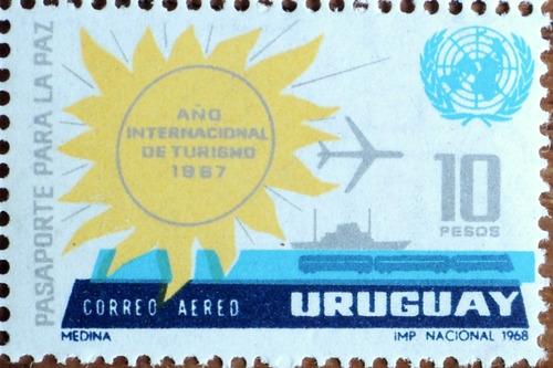 osl sello aéreo 335 uruguay  turismo